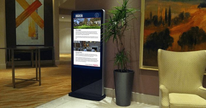 Hotel Foyer Display : Digital directory board display signs perth