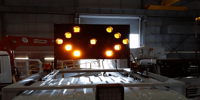 LED truck mounted arrow board signs perth