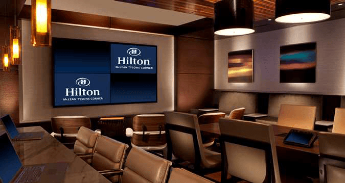 Range of hotel signage solutions