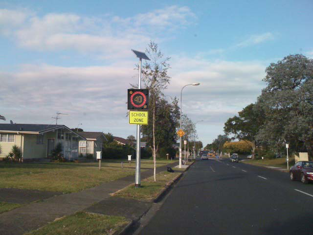 School Zone speed traffic signs