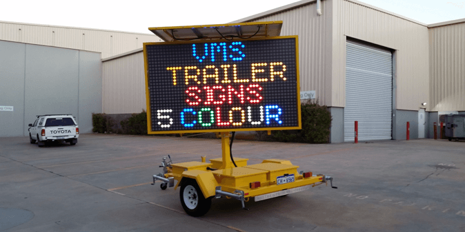 VMS Trailer Signs Call us for VMS Trailer Hire and Sales in Perth